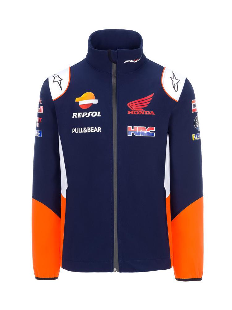 2020 Repsol Honda Team Mens Replica Softshell Jacket Blue MotoGP Merchandise Sizes S-XXL