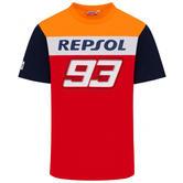 2020 Repsol Honda Team Dual Marc Marquez Mens T-Shirt Red MotoGP Sizes S-XXL