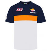 2020 Repsol Honda Team Dual Marc Marquez Mens T-Shirt White MotoGP Sizes S-XXL