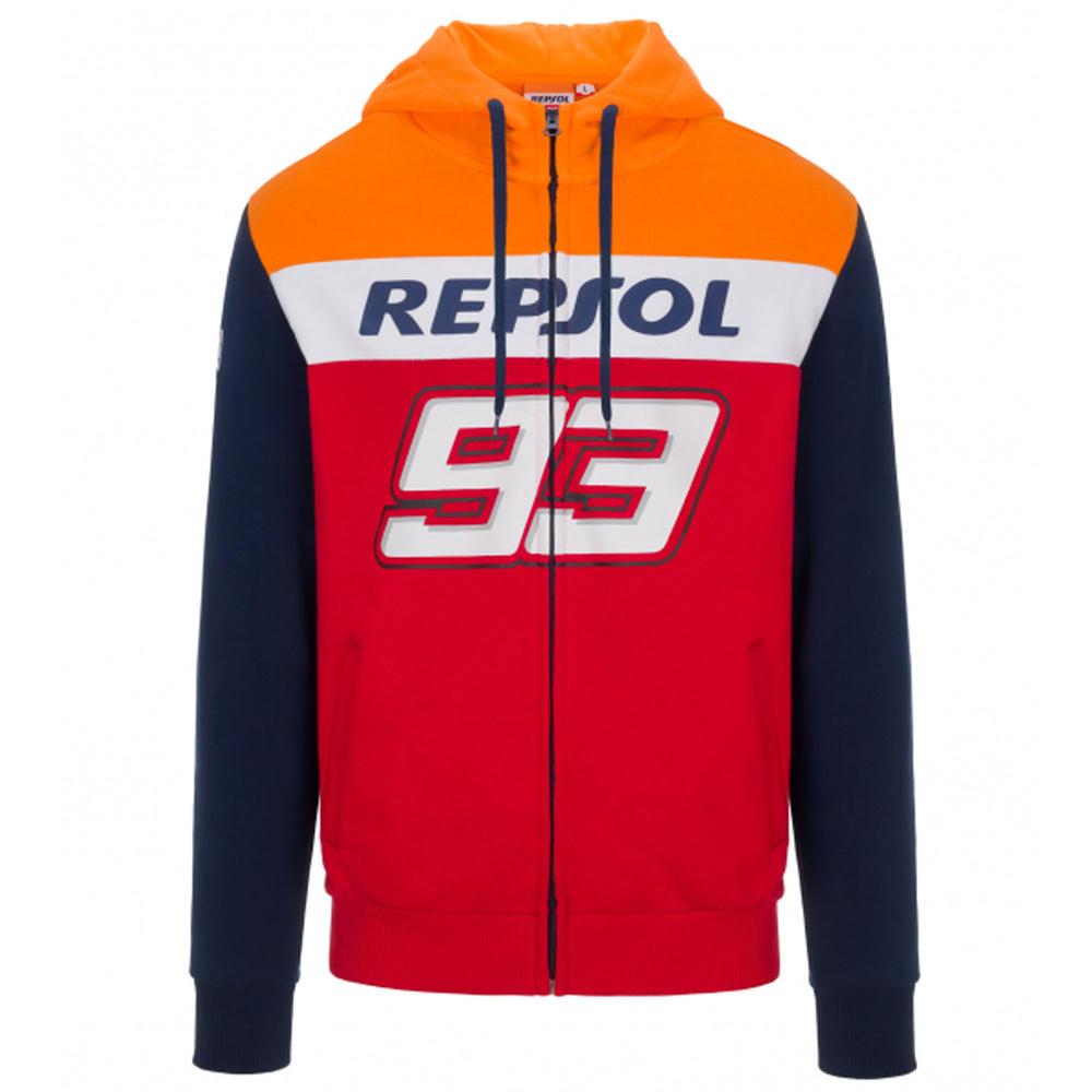 2020 Repsol Honda Team Dual Marc Marquez Mens Hoodie Red MotoGP Sizes S-XXL