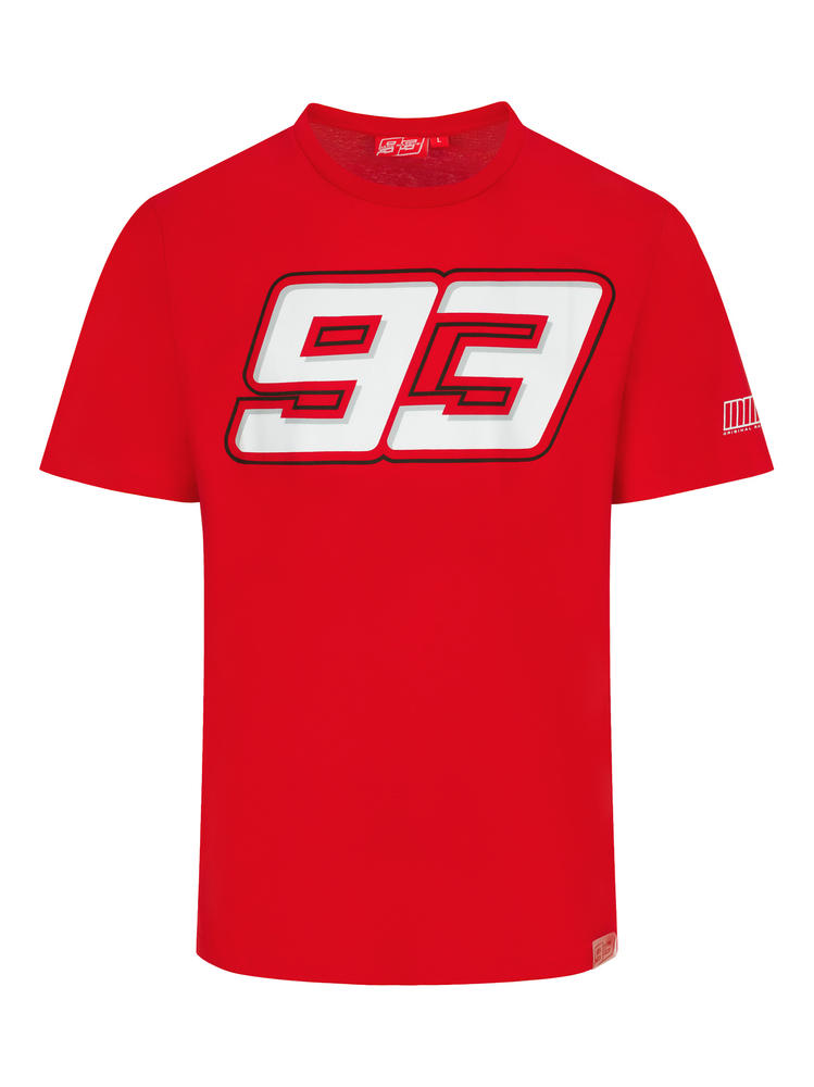 2020 Marc Marquez #93 MotoGP Mens T-Shirt Red Official Merchandise Sizes S-XXL