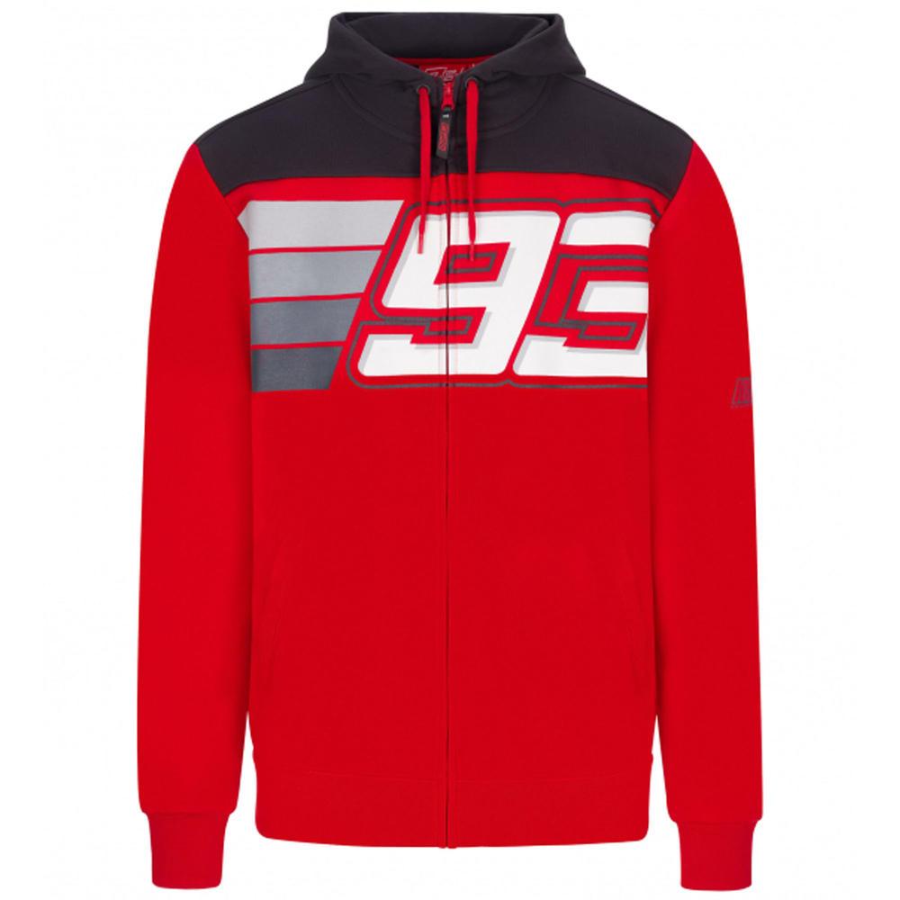 2020 Marc Marquez #93 MotoGP Mens Hoodie Red Striped Official Merchandise S-XXL