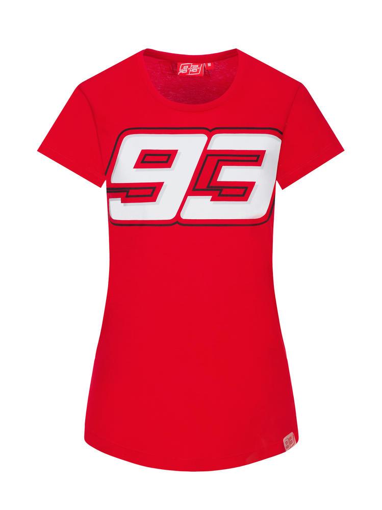 2020 Marc Marquez #93 MotoGP Ladies Womens Red T-Shirt Official Merchandise