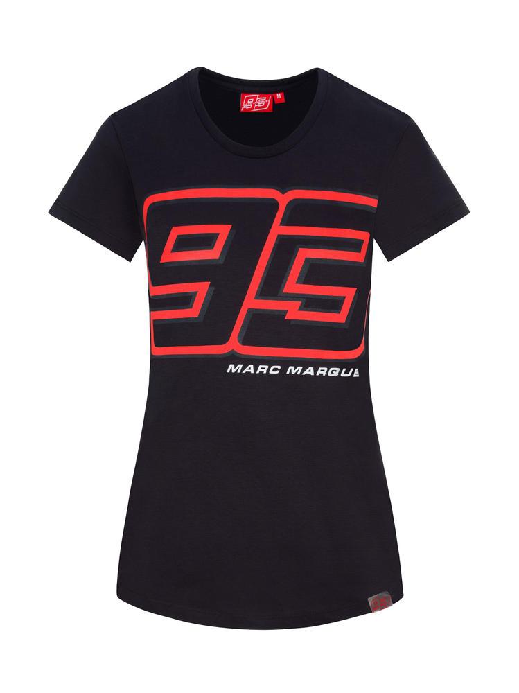2020 Marc Marquez MotoGP Ladies Womens Grey Logo T-Shirt Official Merchandise