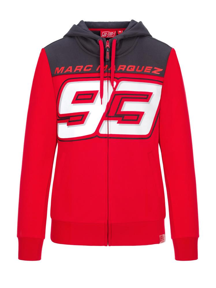 2020 Marc Marquez MotoGP Ladies Womens Zip Up Hoodie Red Official Merchandise