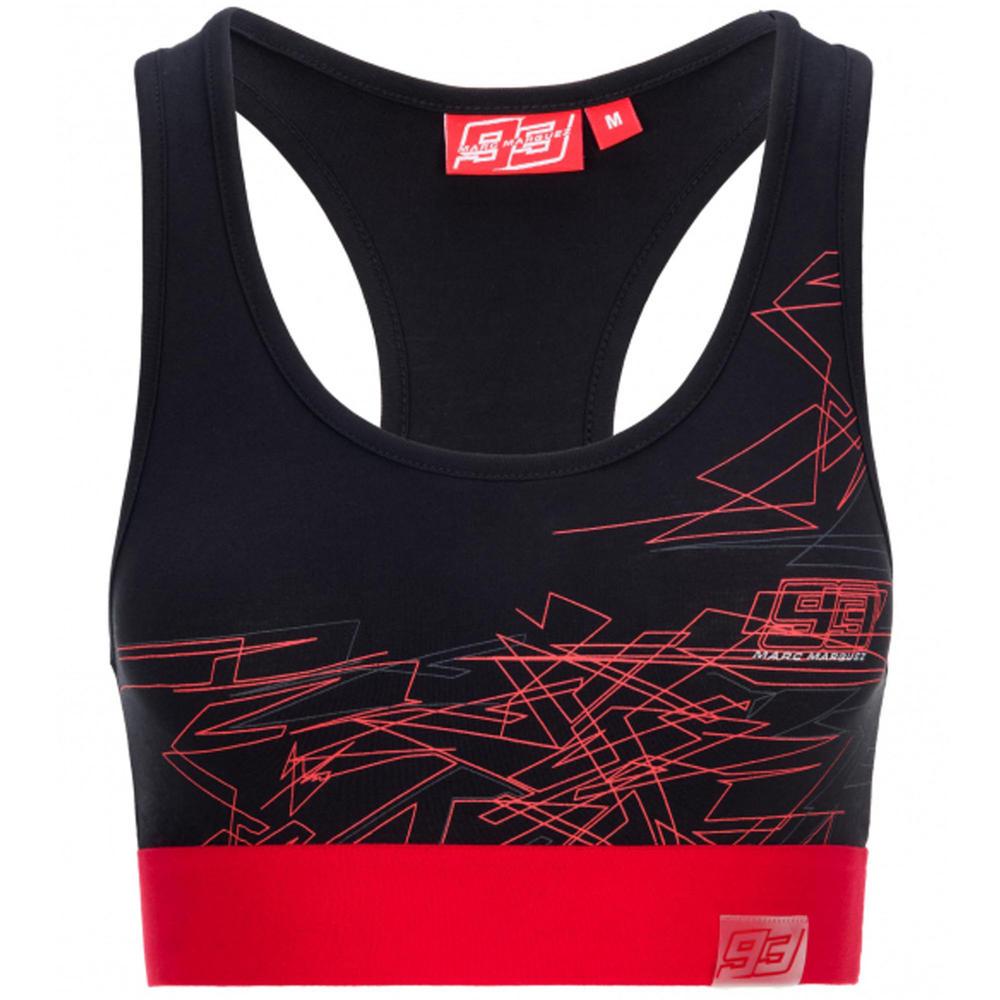 2020 Marc Marquez #93 MotoGP Ladies Womens Sports Bra Black Official Merchandise