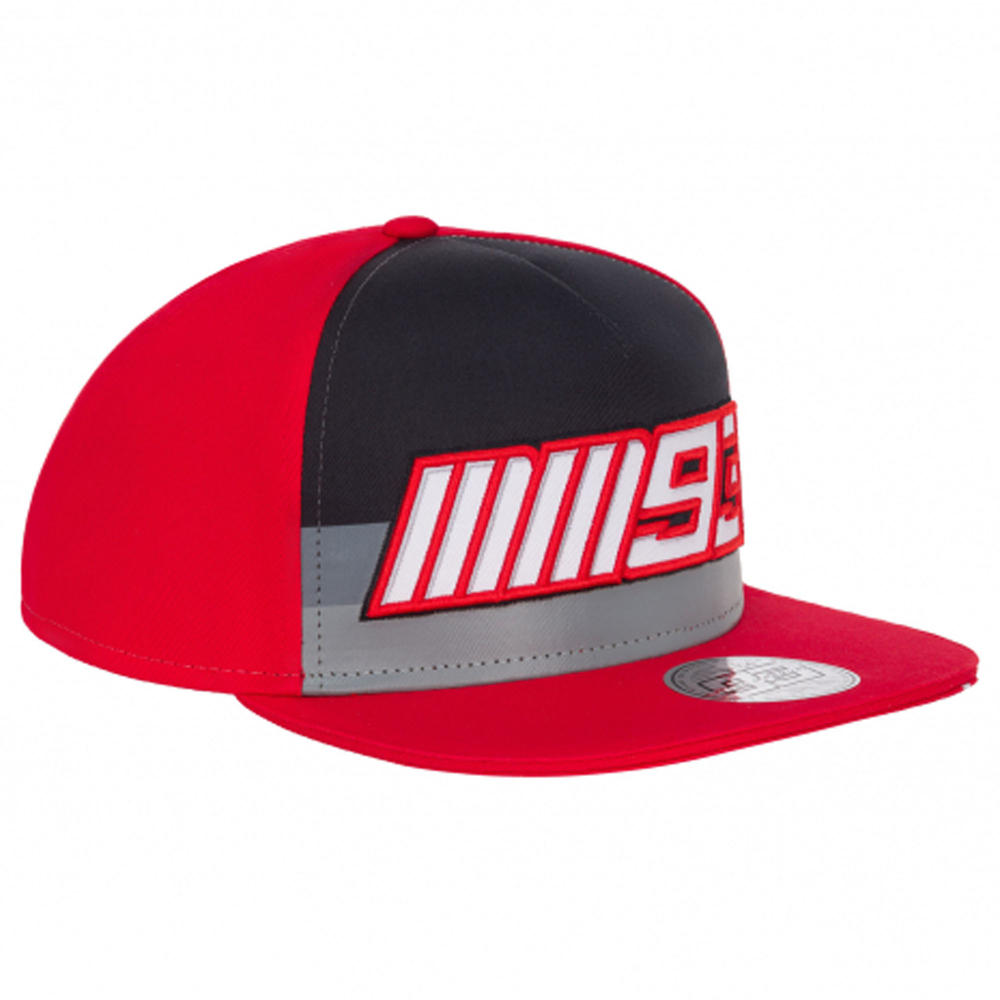 2020 Marc Marquez #93 MotoGP Red Striped Flat Baseball Cap Official Merchandise