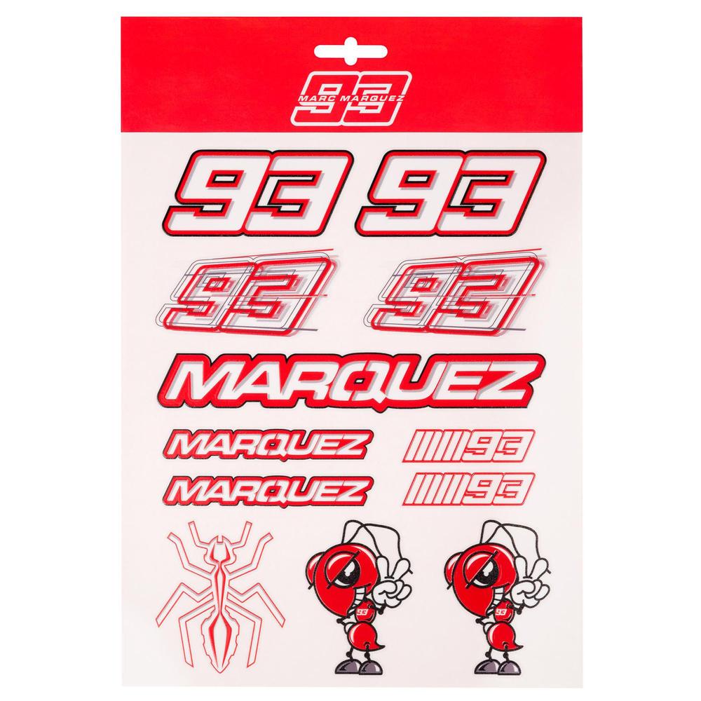 2020 Marc Marquez #93 MotoGP Big Sticker Pack Decals Official Merchandise