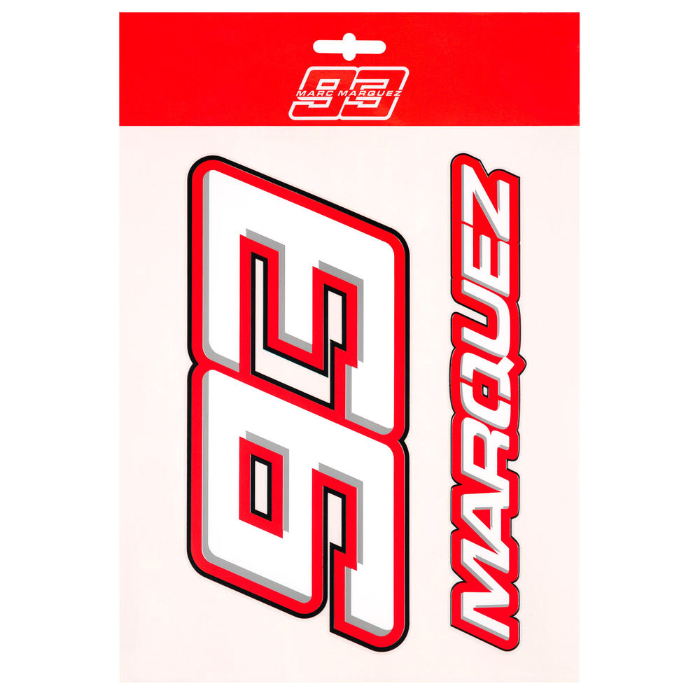2020 Marc Marquez #93 MotoGP Big 93 Logo Sticker Pack Decal Official Merchandise