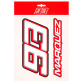 2020 Marc Marquez #93 MotoGP Big 93 Logo Sticker Pack Decal Official Merchandise
