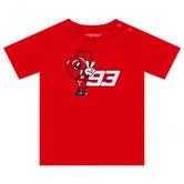 2020 Marc Marquez #93 MotoGP Kids Baby Infant T-Shirt Red Official Merchandise