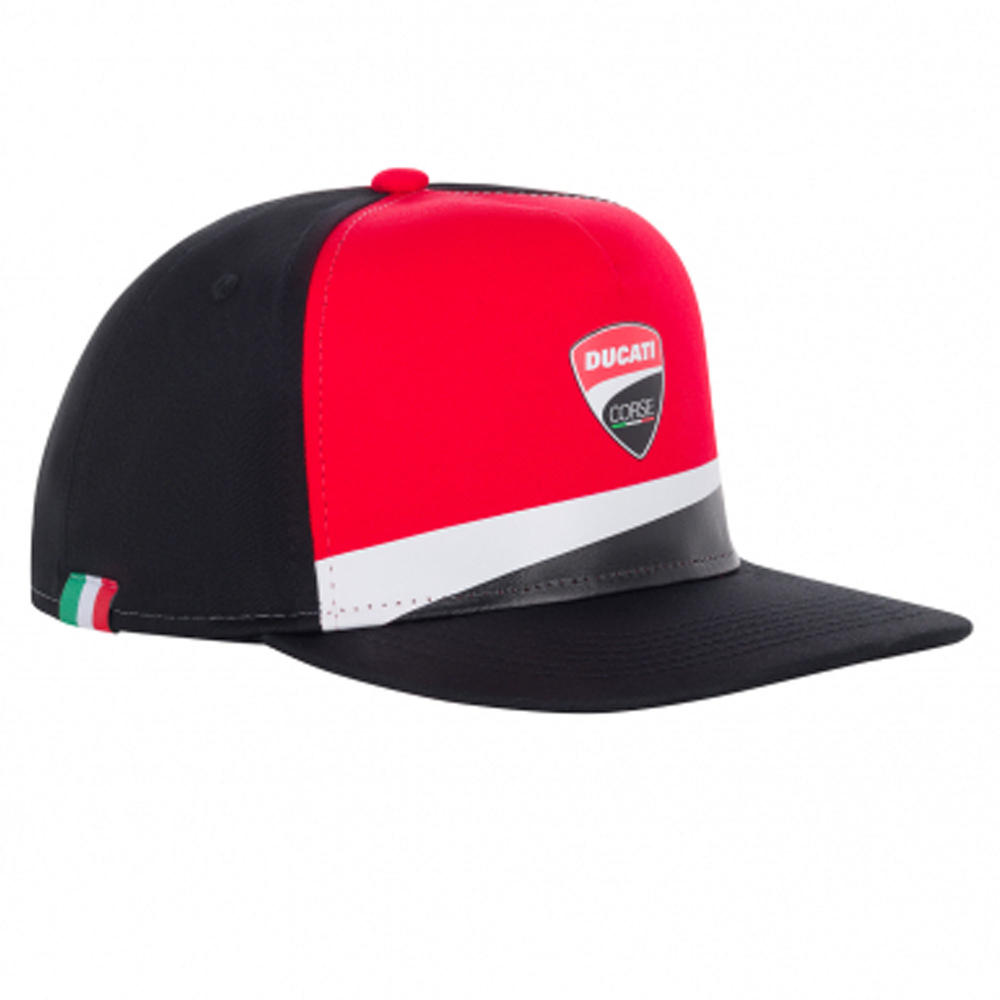 2020 Ducati Corse MotoGP Kids Childrens Cap Flat Black Hat Official Merchandise