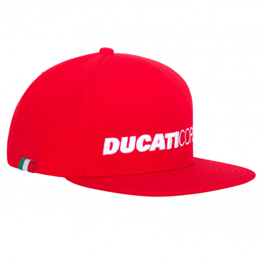 2020 Ducati Corse MotoGP Trucker Hat Baseball Flat Cap Logo Red Adults One Size