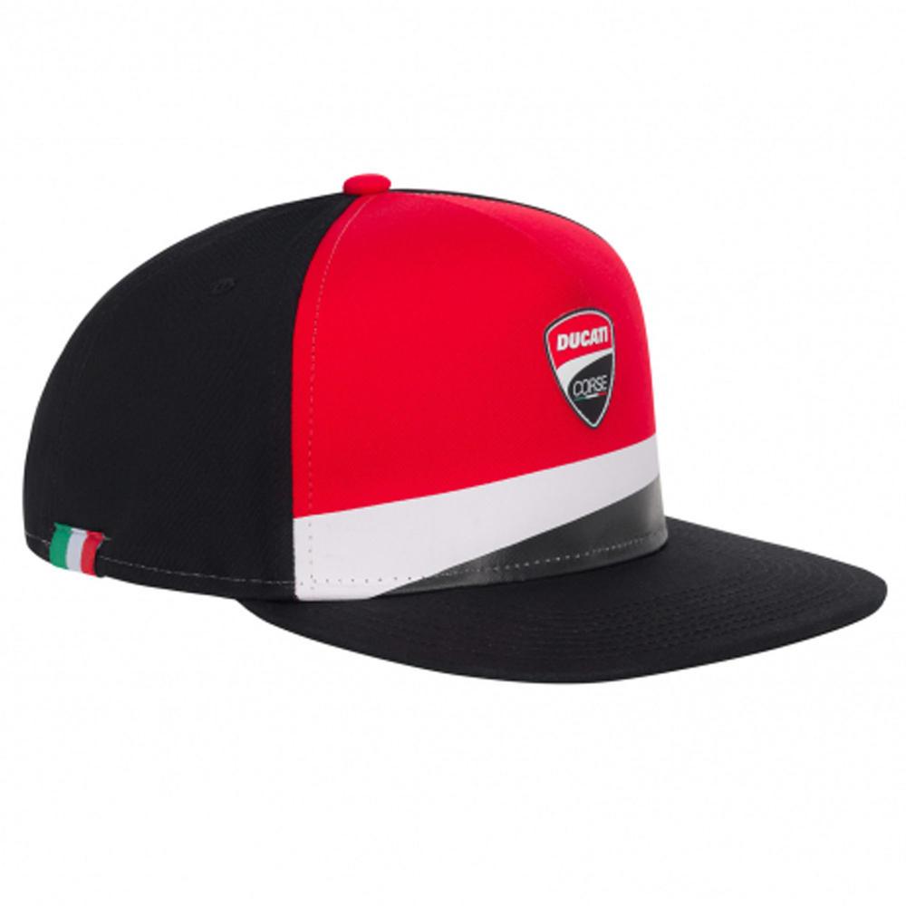 2020 Ducati Corse MotoGP Trucker Hat Baseball Flat Cap Logo Red Black One Size