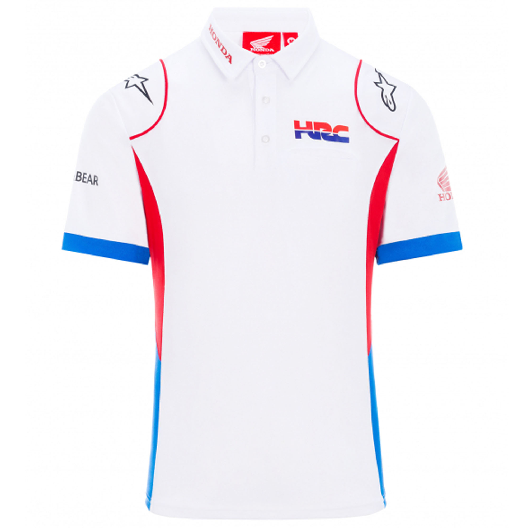 2020 Honda Hrc Replica Team Motogp Mens Polo Shirt White Official Sizes S Xxl Male Tifoso F1 Merchandise F1 Store