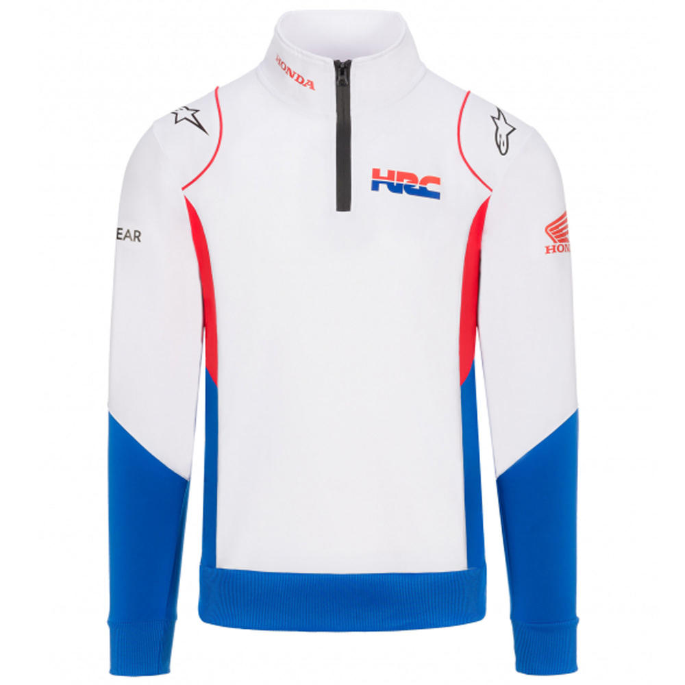 2020 Honda HRC Replica Team MotoGP Mens Sweatshirt White Official Sizes S-XXL