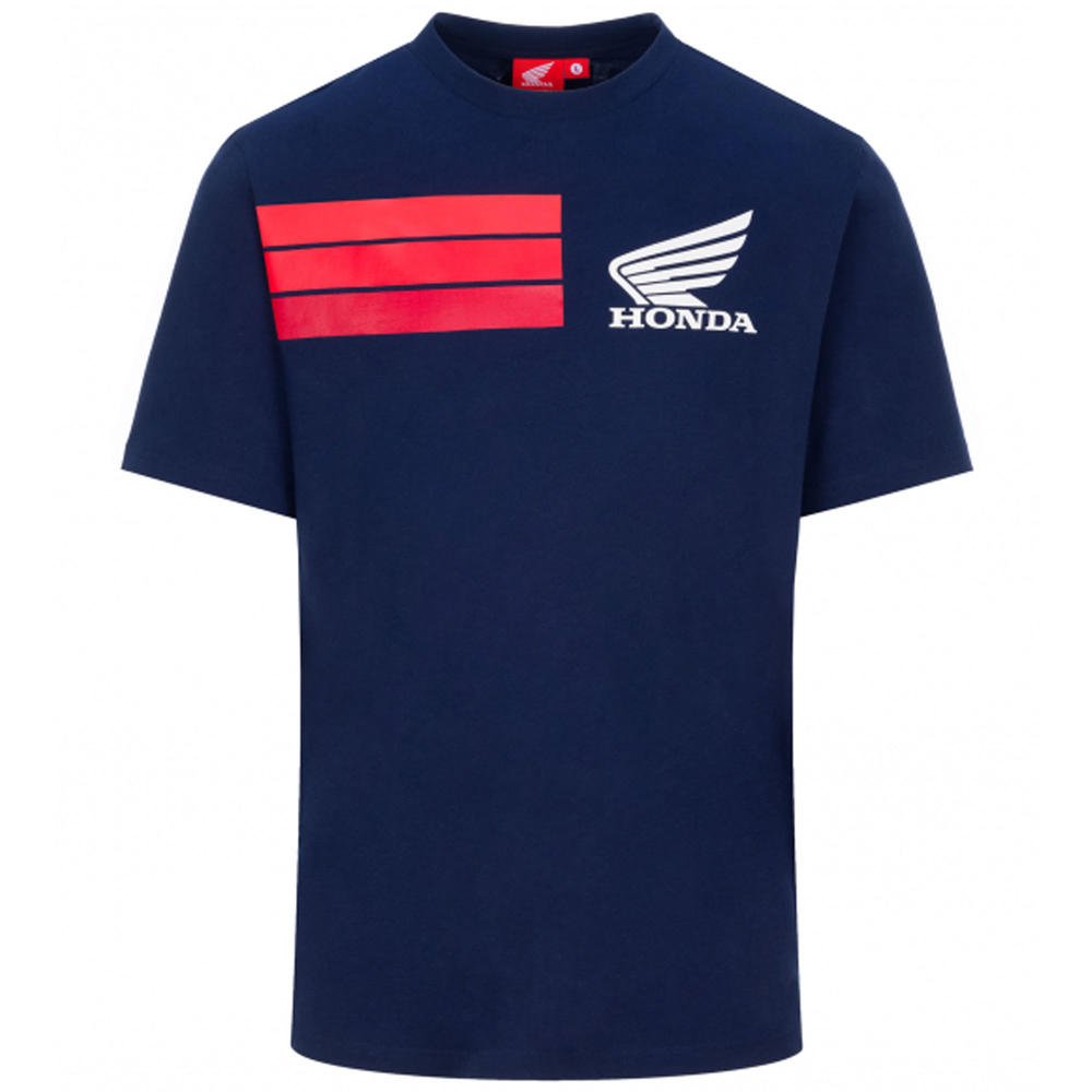 2020 Honda HRC Racing Collection MotoGP Mens T-Shirt Blue Official Sizes S-XXL
