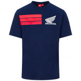 2020 Honda HRC Racing Collection MotoGP Mens T-Shirt Blue Official Sizes S-XXL