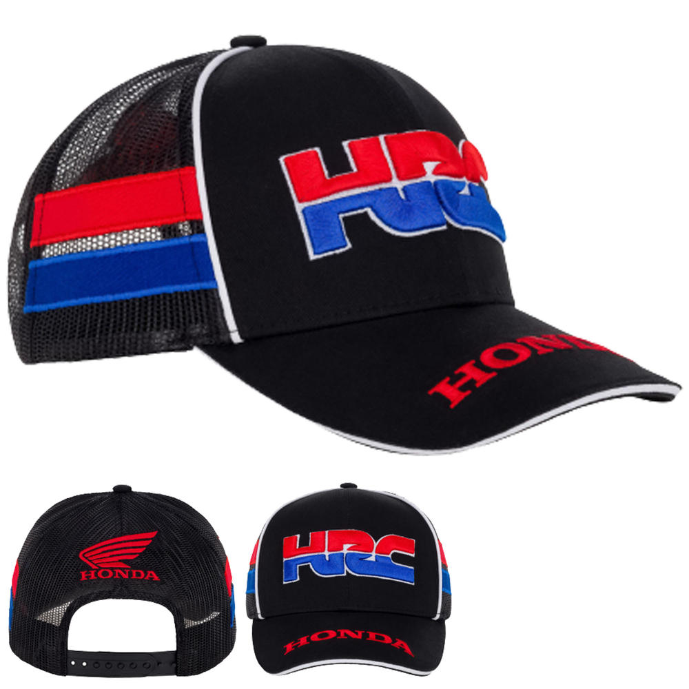 2020 Honda HRC Racing Collection MotoGP Trucker Cap Navy Hat Adults One Size