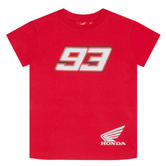 2020 Honda HRC Dual Marc Marquez #93 MotoGP Kids Childrens T-Shirt Red Ages 2-11