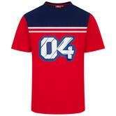2020 Andrea Dovizioso MotoGP Mens T-Shirt Red Official Merchandise Sizes S-XXL
