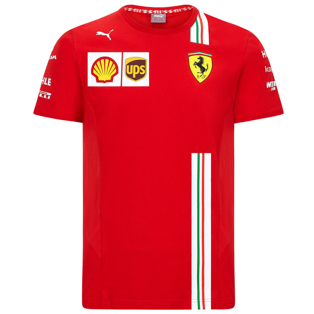 2020 Scuderia Ferrari F1 Replica Mens Team T-Shirt Official Merchandise S-XXL