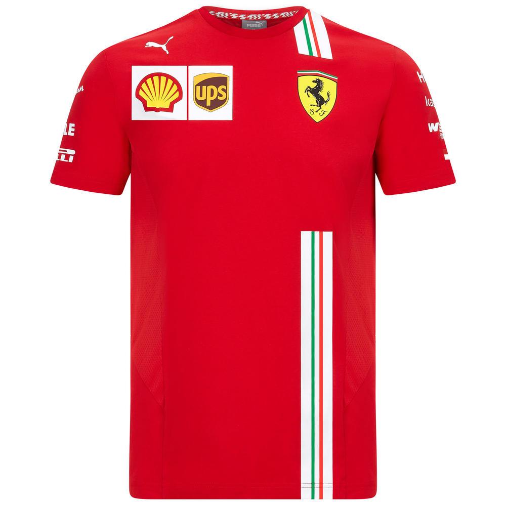 2020 Scuderia Ferrari F1 Replica Mens Leclerc T-Shirt Official Merchandise S-XXL