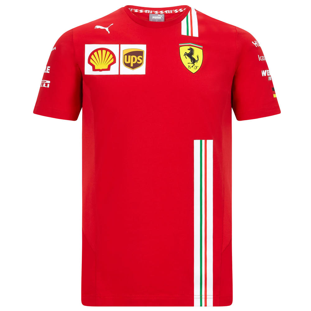 2020 Scuderia Ferrari F1 Replica Mens Vettel T-Shirt Official Merchandise S-XXL