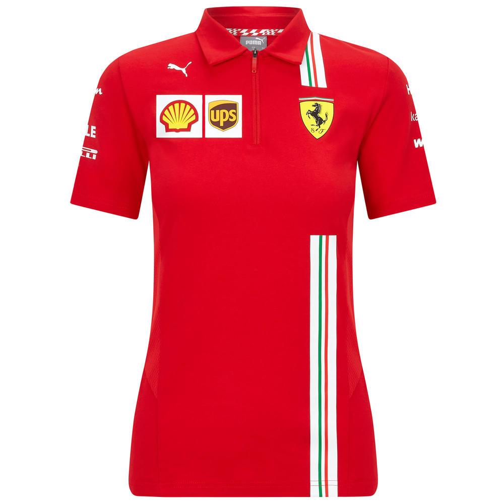 2020 Scuderia Ferrari F1 Replica Ladies Womens Team Polo Shirt Official XS-XL