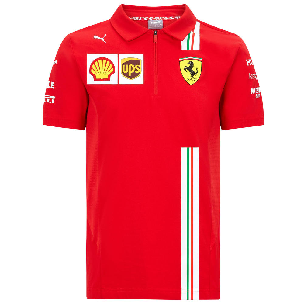 2020 Scuderia Ferrari F1 Replica Kids Childrens Polo Shirt Official Merchandise