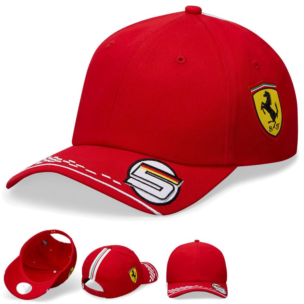 2020 Scuderia Ferrari F1 Replica Seb Vettel Baseball Cap Hat Adult One Size