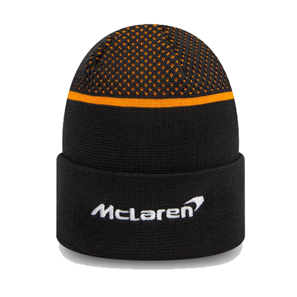2020 McLaren Racing Team Replica Beanie Hat Black Adults One Size Official