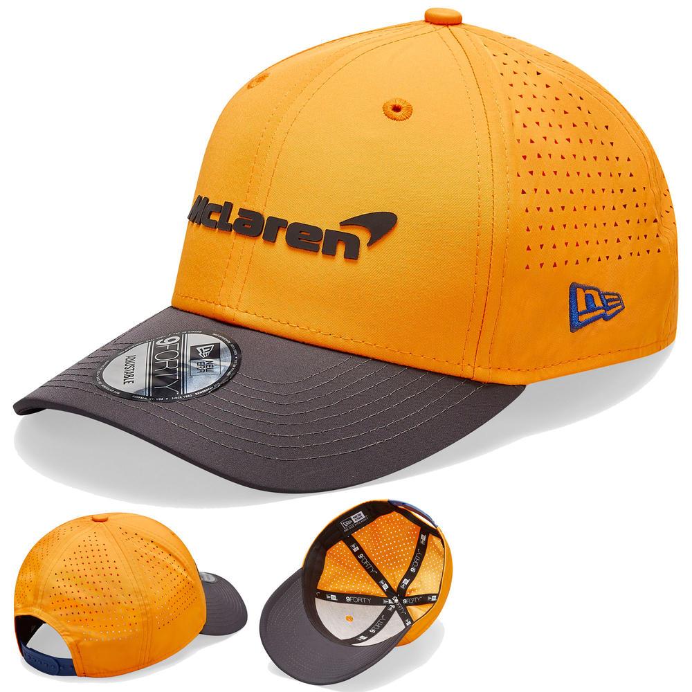 2020 McLaren Racing Team Replica 9FORTY Orange Baseball Cap Adults One Size