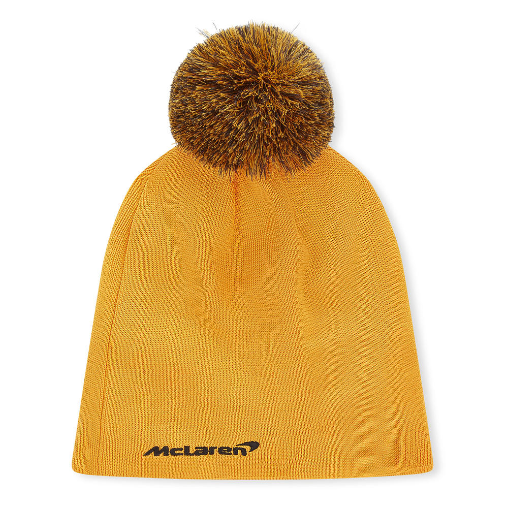 2020 McLaren Racing Essential KNITS Beanie Hat Orange Adults One Size Official