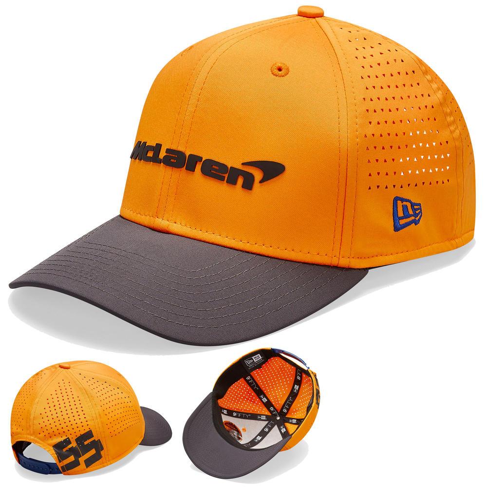 2020 McLaren Racing Carlos Sainz 9FORTY Baseball Cap Orange Kids Size Official