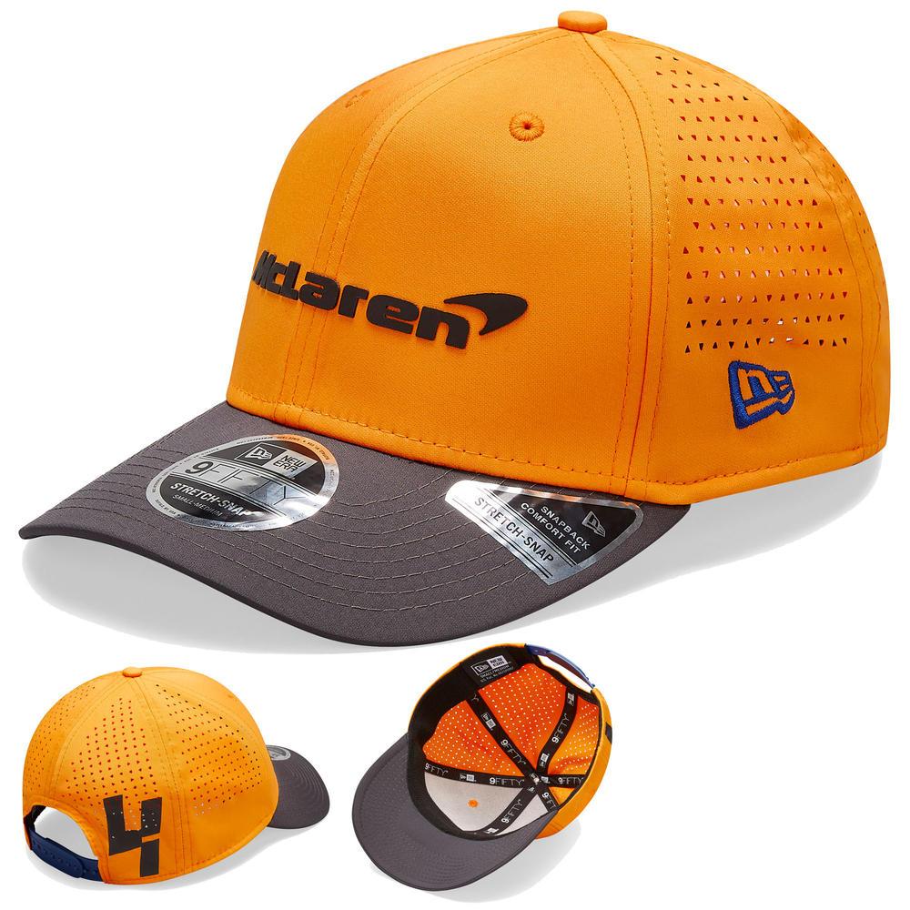 2020 McLaren Racing Lando Norris 9FORTY Baseball Cap Orange Kids Size Official