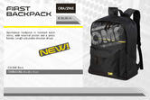 ORA/2965 OMP Racing FIRST Backpack Rucksack Bag for Pitcrew/Leisure/Team/Travel