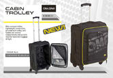 ORA/2968 OMP Racing Travel Aeroplane Cabin Trolley Hand Luggage Bag Suitcase