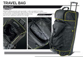 ORA/2969 OMP Racing Pitcrew Team Travel Large Holdall Bag Black/Yellow 90x38cm