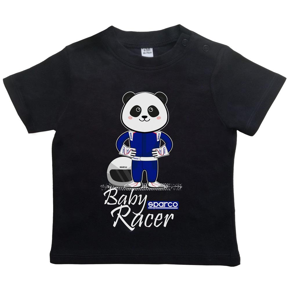 017010 Sparco Baby Racer T-Shirt Infants Child Tee Panda Print Ages 6-24 Months