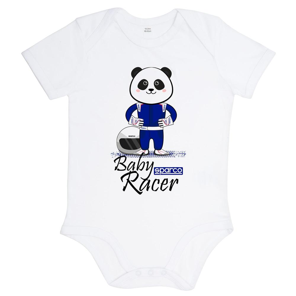 017011 Sparco Baby Racer Vest Bodysuit 100% Organic Cotton in Ages 6-24 Months