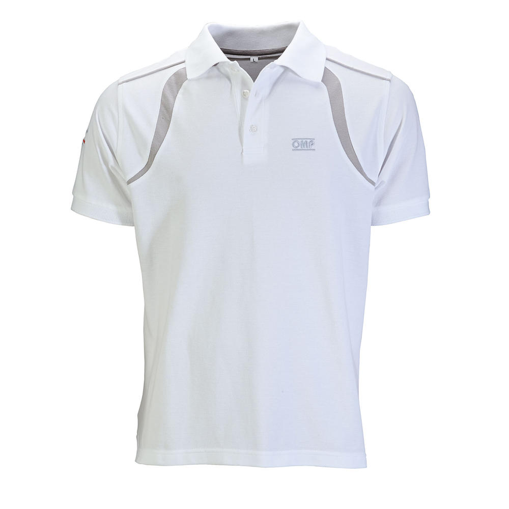 OR5905 OMP Racing Spirit Polo Shirt Cotton Fabric In White Or Grey S-Xxl