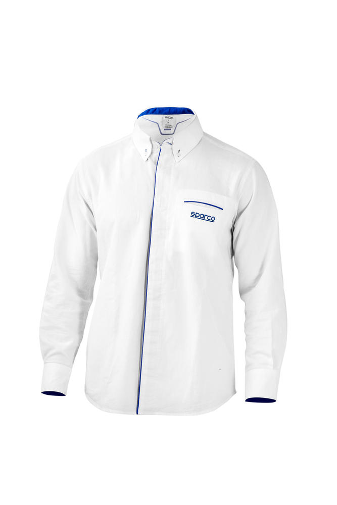 01257 Sparco CRUISE Long Sleeve Shirt made from 100% Micro-Oxford Cotton Fabric