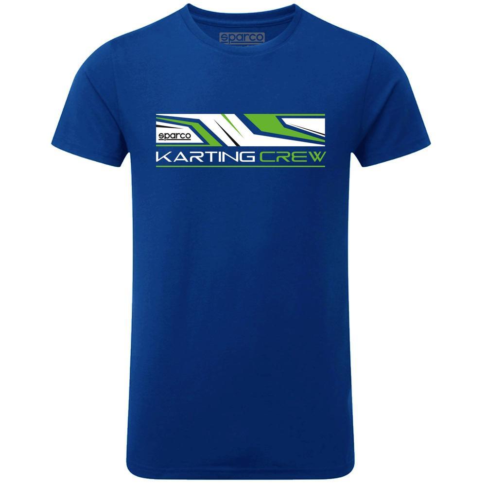 01261 Sparco Karting T-Shirt K-Crew Kart Fanwear Teamwear in 100% Cotton Fabric