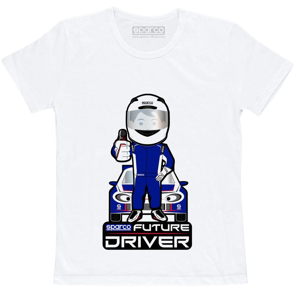 017013 Sparco Kids T-Shirt Future Racing Driver Childrens Tee Ages 3-11 Years