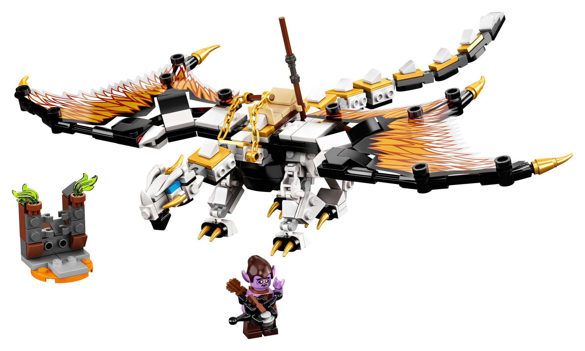 71718 Lego Ninjago Wu de batalla Dragon Ninja edificio Set 321 piezas 7 años