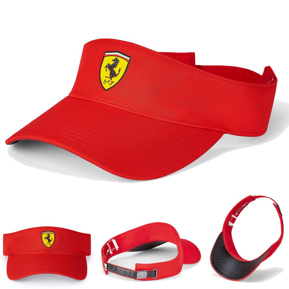2020 Scuderia Ferrari F1 Fanwear Red Visor Cap Hat Adults One Size Official