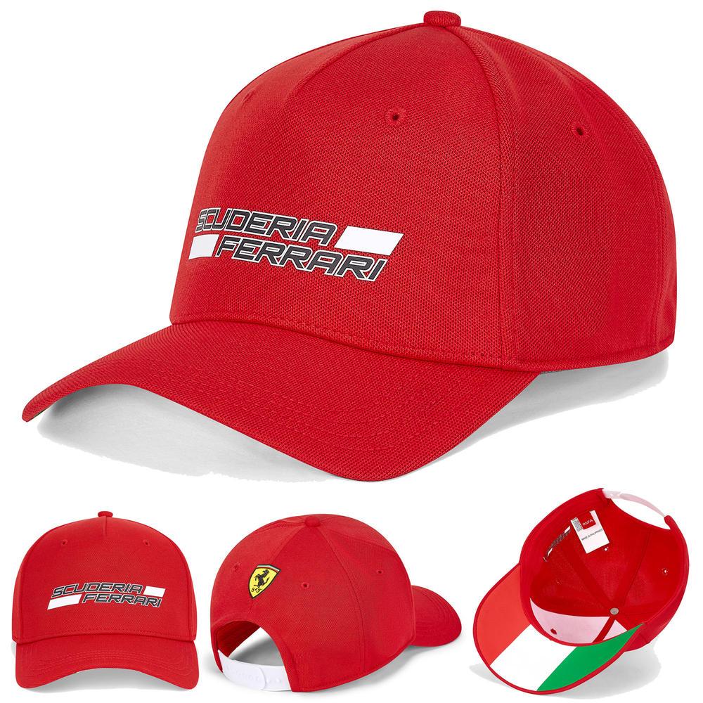2020 Scuderia Ferrari F1 Fanwear Red Logo Baseball Cap Kids One Size Official