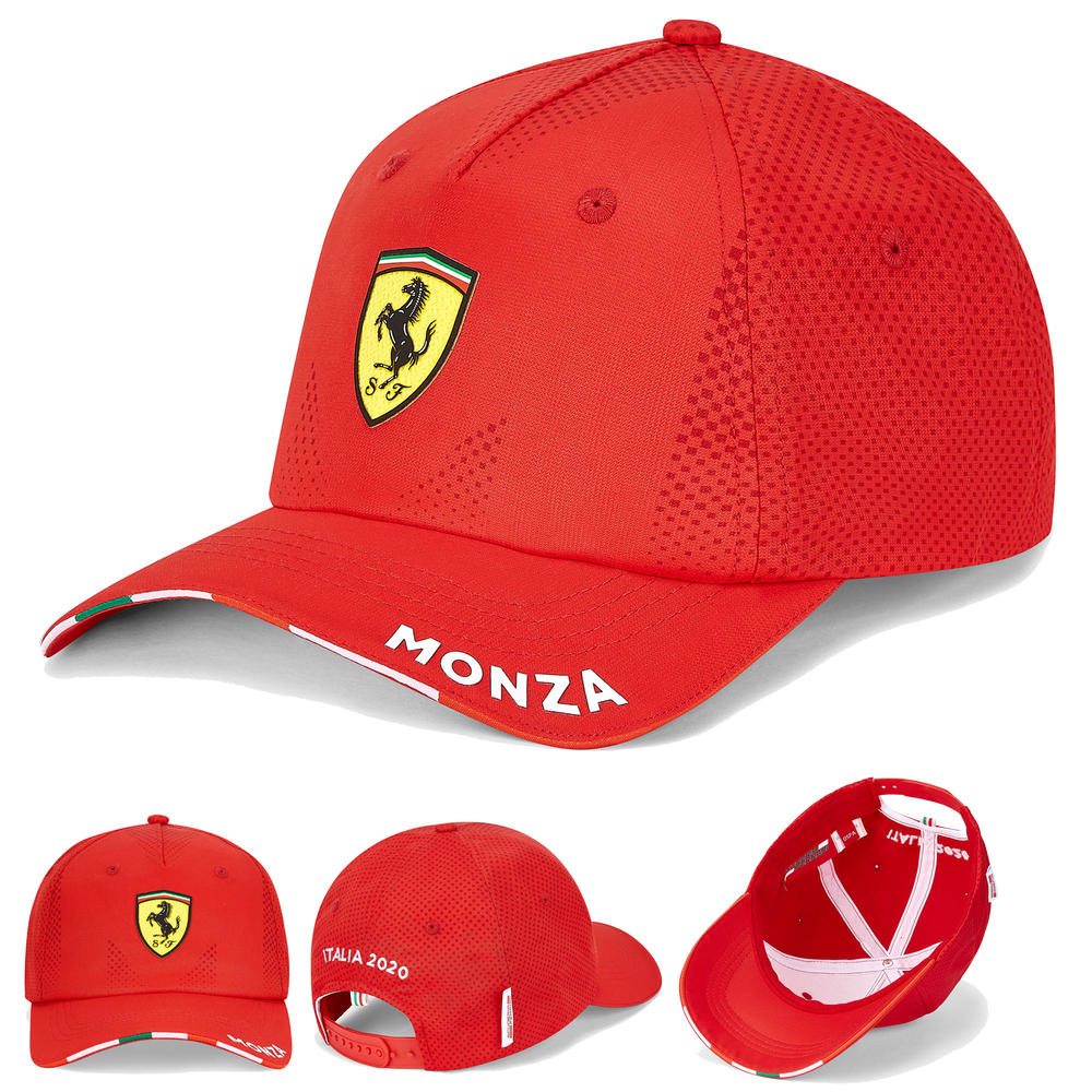 2020 Scuderia Ferrari F1 Fanwear Red Monza Baseball Cap Adult Size Official
