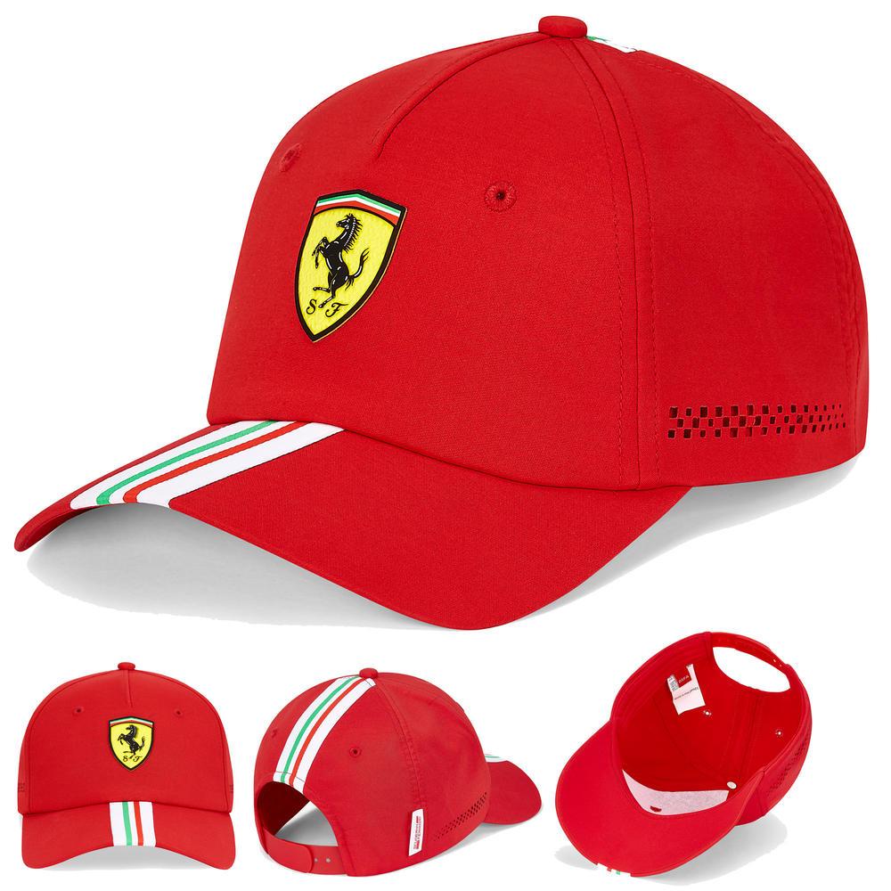 2020 Scuderia Ferrari F1 Fanwear Red Italy Flag Baseball Cap Adult Size Official